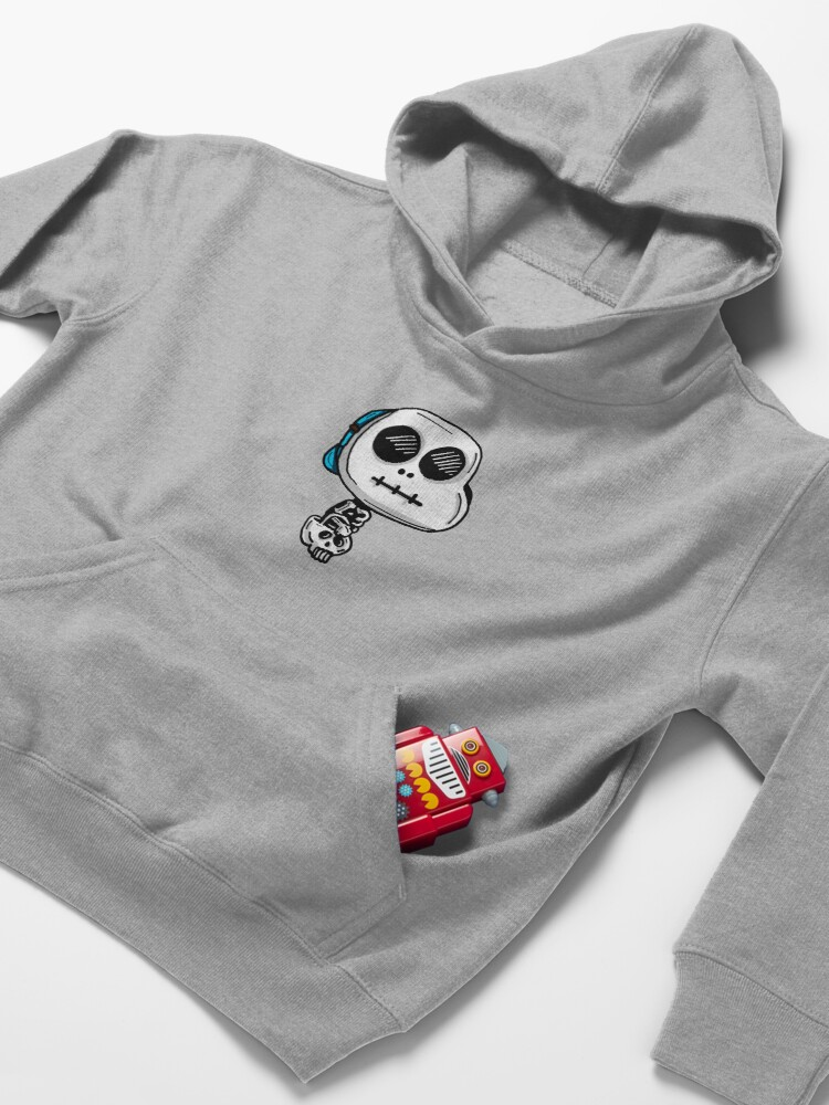 Alternate view of Gumball Watterson from The Amazing World of Gumball™ wearing a Halloween Skeleton Costume Kids Pullover Hoodie