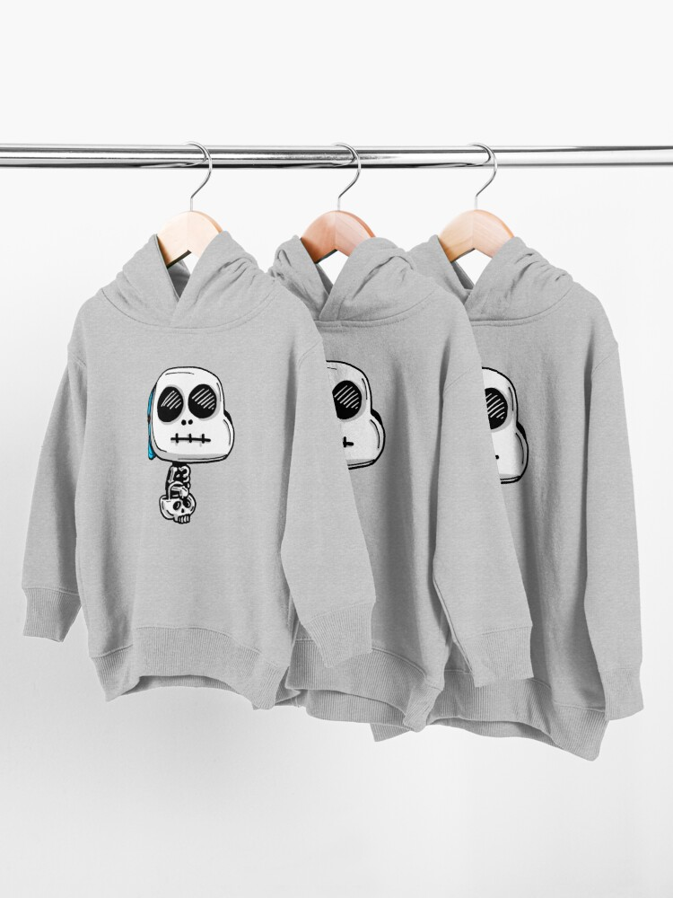 Alternate view of Gumball Watterson from The Amazing World of Gumball™ wearing a Halloween Skeleton Costume Toddler Pullover Hoodie