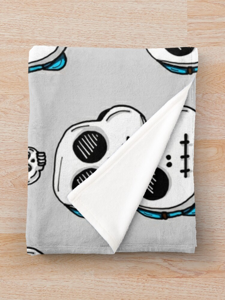 Alternate view of Gumball Watterson from The Amazing World of Gumball™ wearing a Halloween Skeleton Costume Throw Blanket