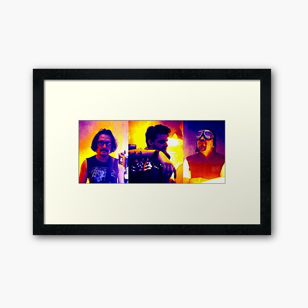 Band Banner Framed Art Print