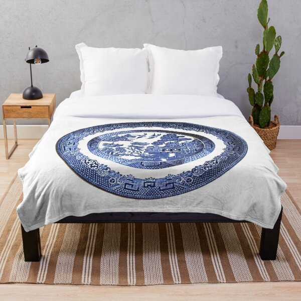 Blue Willow China Throw Blanket