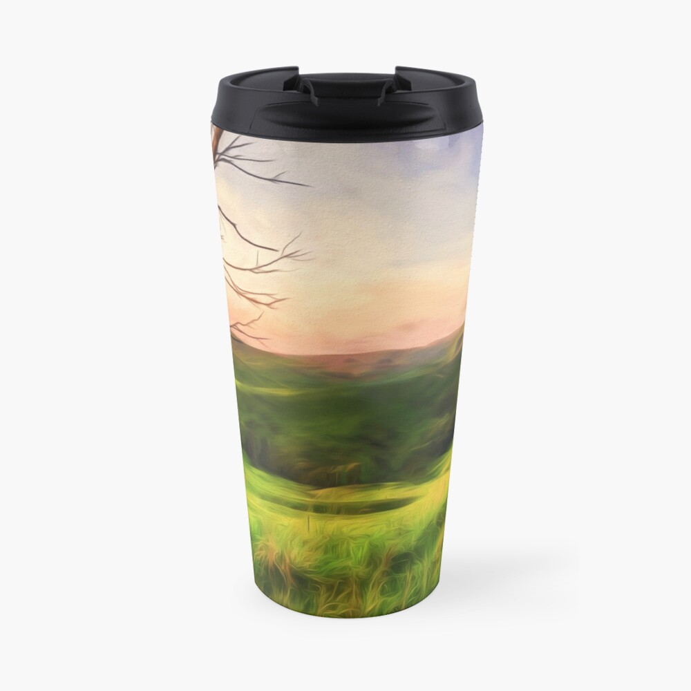 The Valley (digital painting) Travel Mug