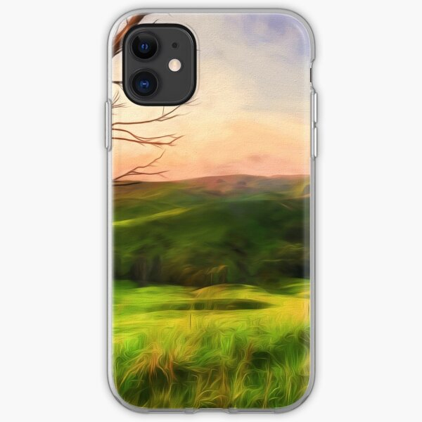 The Valley (digital painting) iPhone Soft Case