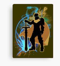 Super Smash Bros. Yellow/Gold Ike Silhouette Canvas Print