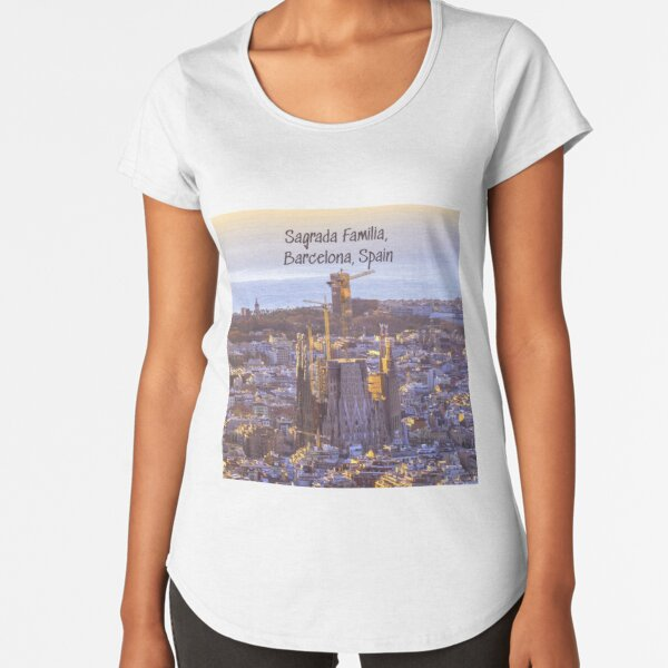 Sagrada Familia Catholic Church, Barcelona, Spain  Premium Scoop T-Shirt