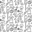 Halloween Icons | Black and White by cozyreverie