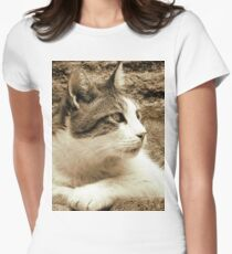 cat02 sepia Women's Fitted T-Shirt