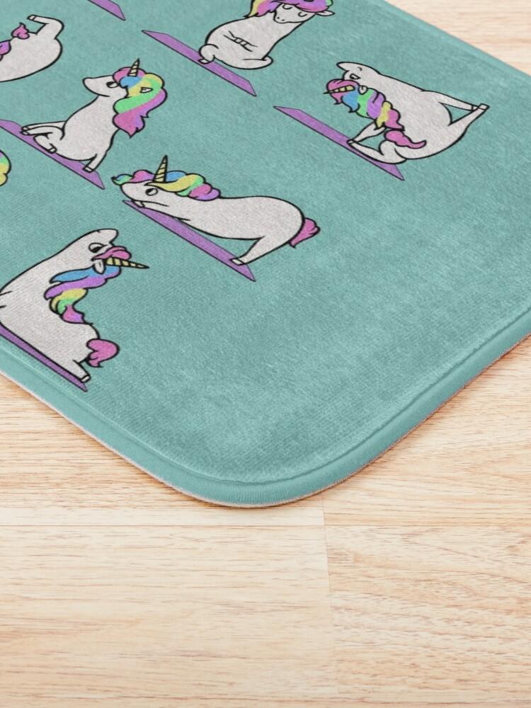 Alternate view of  Unicorn Yoga Bath Mat