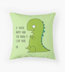 OH T-Rex - Arms problem here Throw Pillow