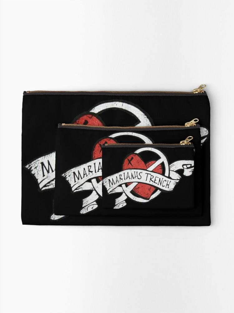 Alternate view of Marianas Trench Heart Logo Zipper Pouch
