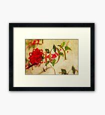 Ribbon Joy Framed Print