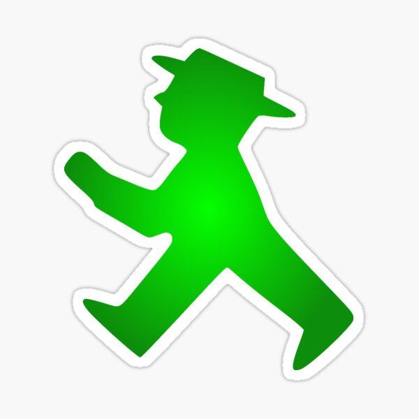 Ampelmann Green Sticker