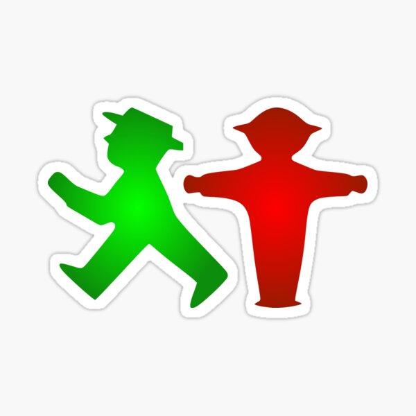 Ampelmann Red & Green Sticker