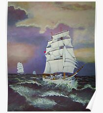Astrid leads in the Tall Ships. Poster