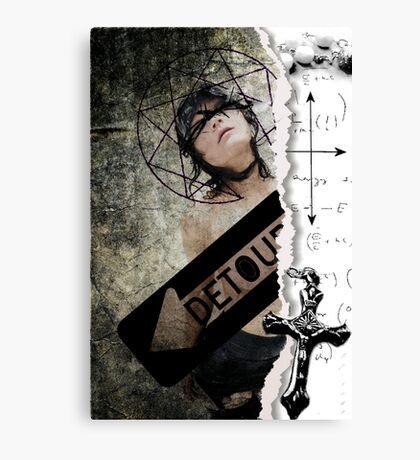 Detour...lost faith...confessions of a catholic girl Canvas Print