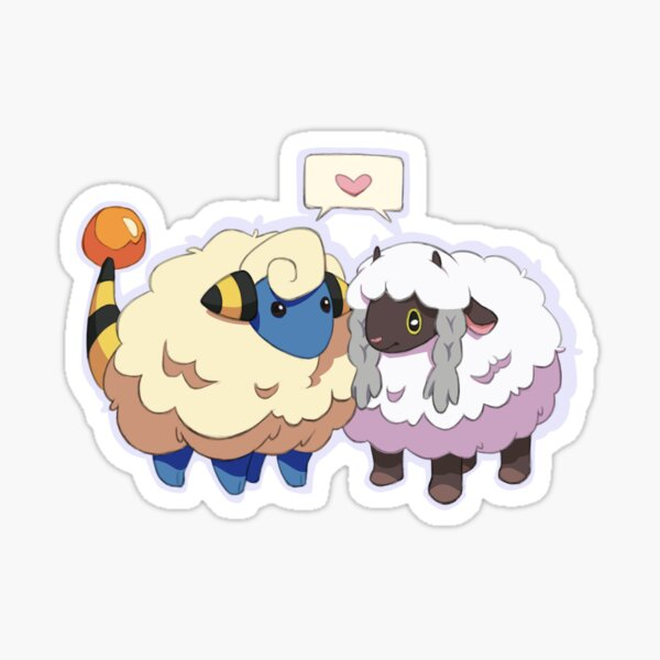 mareep and wooloo Sticker