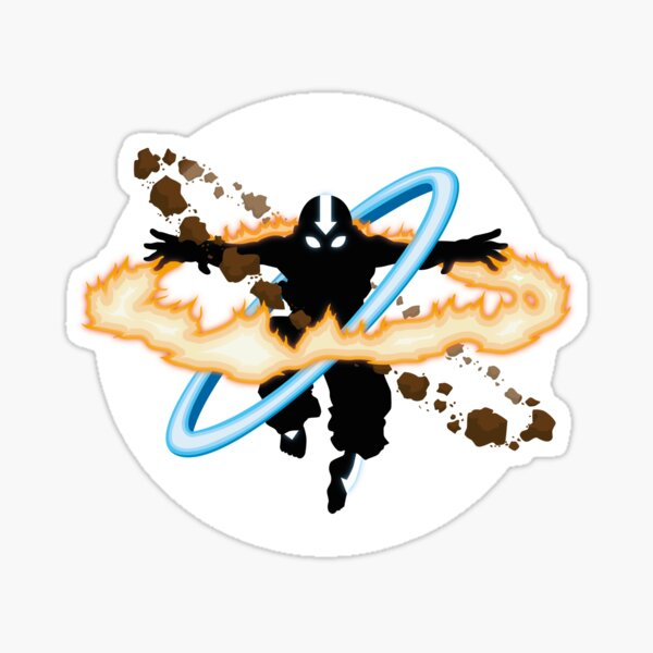 Aang going into uber Avatar state Sticker