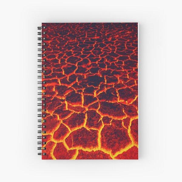 active lava  Spiral Notebook