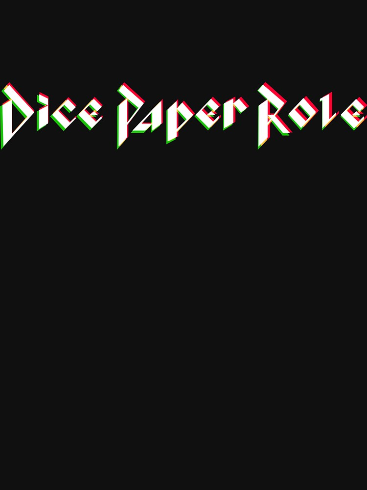 Dice Paper Role Official T-Shirt by DicePaperRole