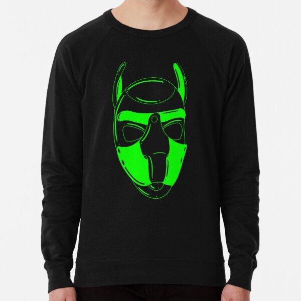 Neongrüne Kapuze Leichter Pullover