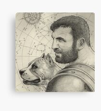 Orion and Sirius Canvas Print