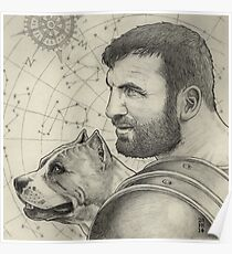 Orion and Sirius Poster