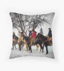 Horse Guard at Gate Throw Pillow
