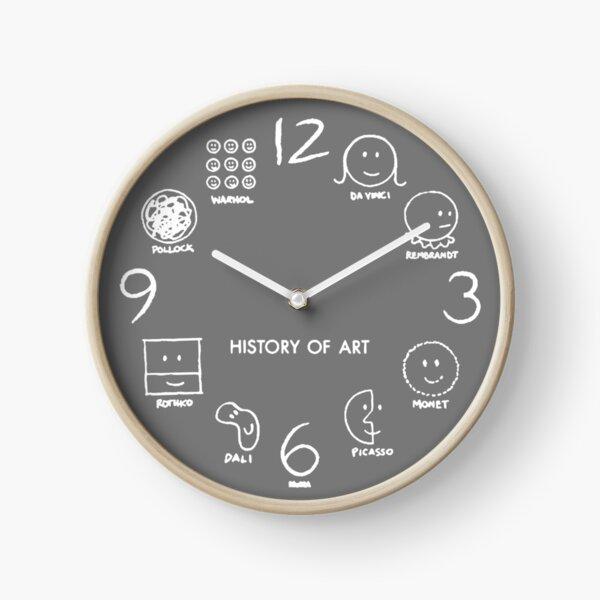 History of Art Clock Clock