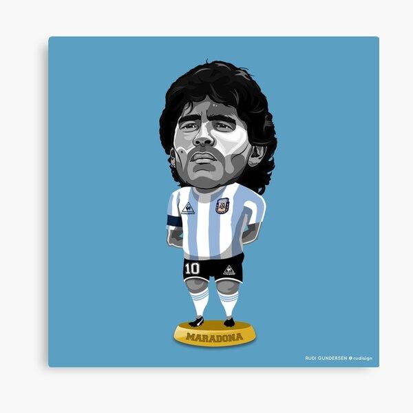 Maradona Figure Canvas Print By Rudigundersen Redbubble