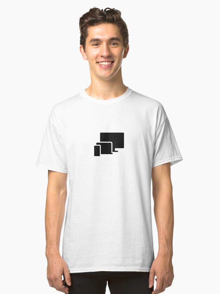 Alternate view of Phone Laptop Desktop Technology (Inverted) Classic T-Shirt
