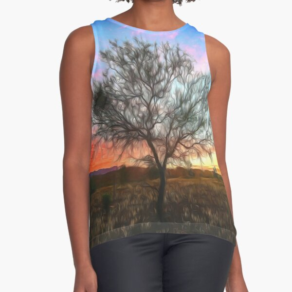 Outback Sunset (digital painting) Sleeveless Top