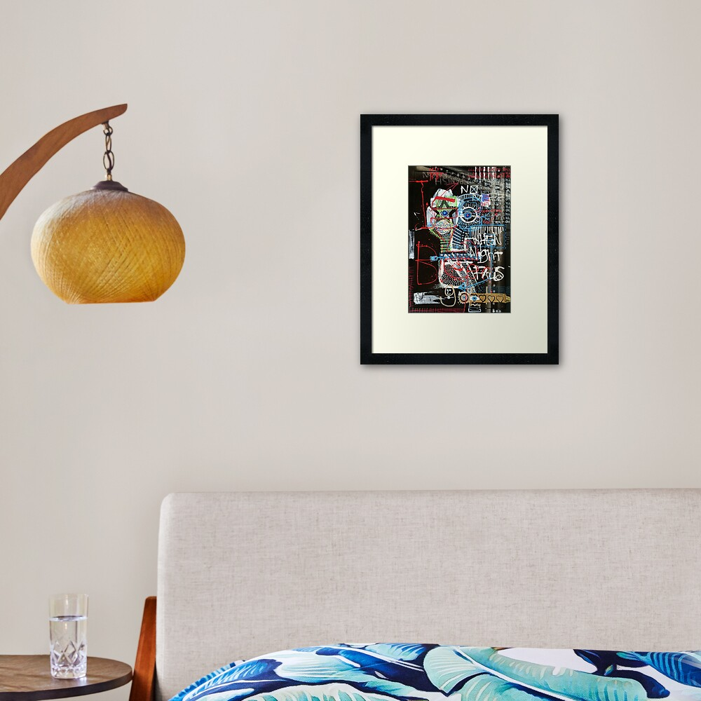 Contemplating Framed Art Print