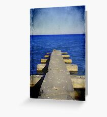 Lake Michigan Pier© Greeting Card
