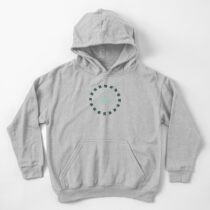 Linked - antique green and gray Kids Pullover Hoodie