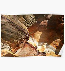 Rusty rocks-Cliffs at Bondi, Australia Poster