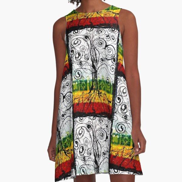 Rasta Tree A-Line Dress