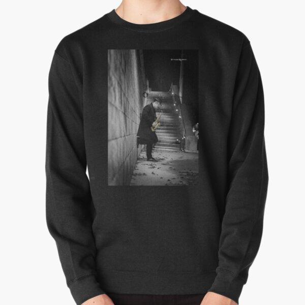 The Golden Saxophone Player Pullover Sweatshirt