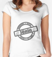 Konoha Jonin Grey Women's Fitted Scoop T-Shirt