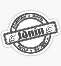 Konoha Jonin Grey Sticker