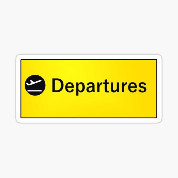 London Heathrow Departures Sticker
