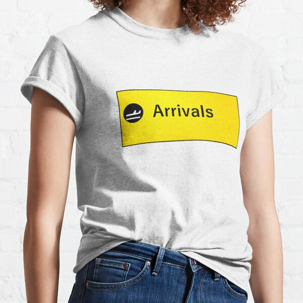 London Heathrow Arrivals Sign Classic T-Shirt