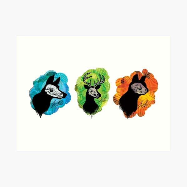 SKull Trio Art Print