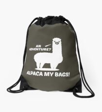 Alpaca My Bags Drawstring Bag