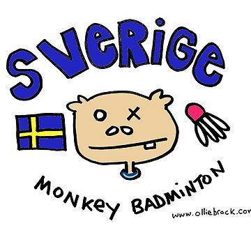 Swedish Monkey Badminton by squeaktoy