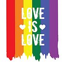 Gay Pride Rainbow Paint Love Is Love Flag by Ricaso