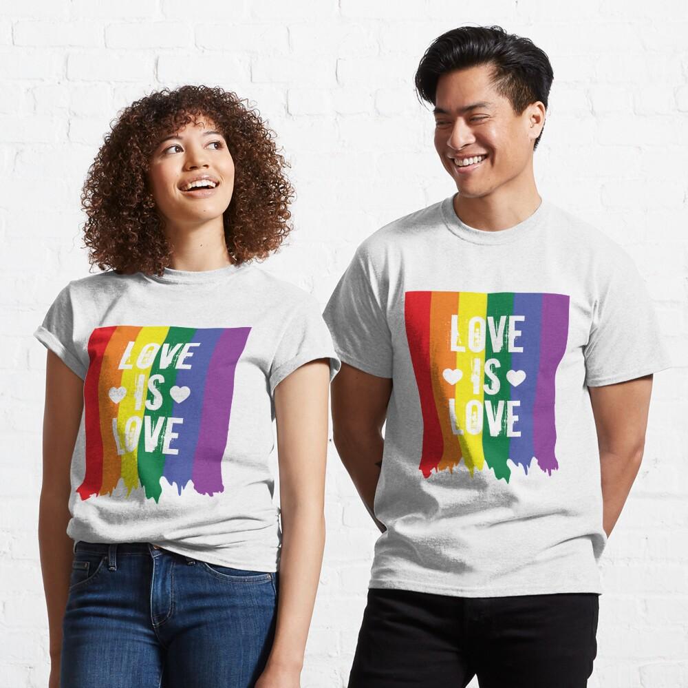 Gay Pride Rainbow Paint Love Is Love Flag Classic T-Shirt