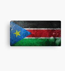 South Sudan Grunge Canvas Print