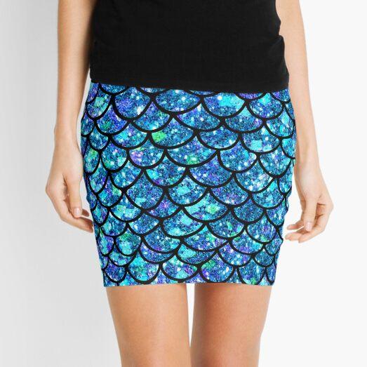 Magical Sparkly Mermaid Scales Mini Skirt