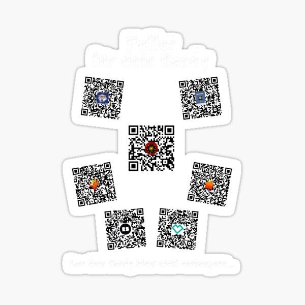 Futter für dein Handy - Transparent - weiße Schrift Sticker