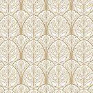 Art Deco Bronze Oak Leaf by carabara